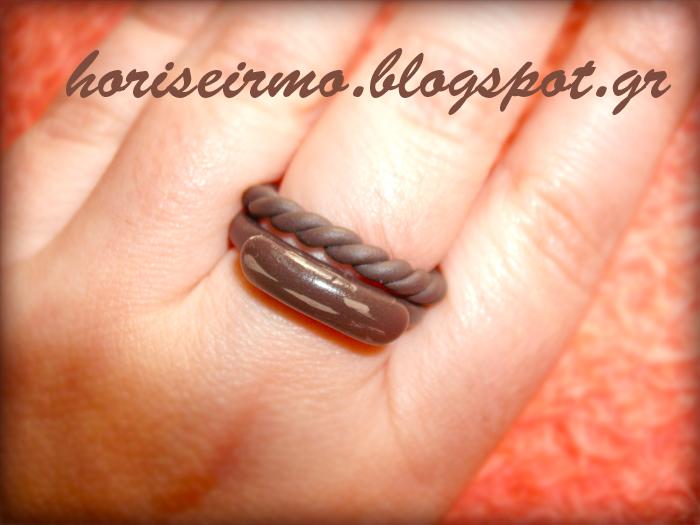 χειροποίητα δαχτυλίδια από πολυμερικό πηλό