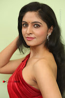 Actress Zahida Sam Latest Stills in Red Long Dress at Badragiri Movie Opening .COM 0083.JPG