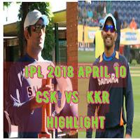 CSK vs KKR highlight, Cricket, IPL 2018 April 10
