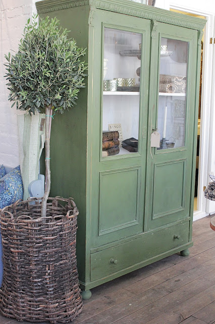 old green cabinet