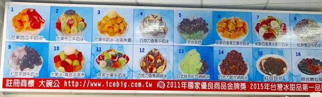 大碗公剉冰(卓蘭店)菜單