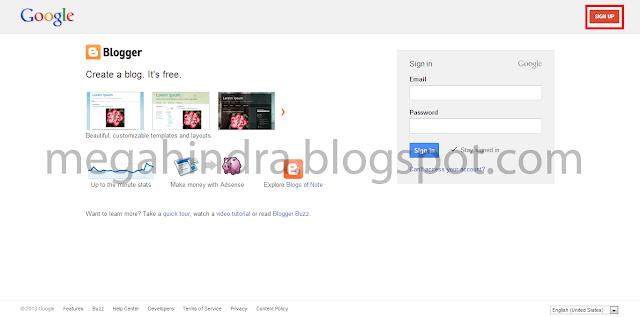 cara mudah membuat blog gratis urusan ekonomi online