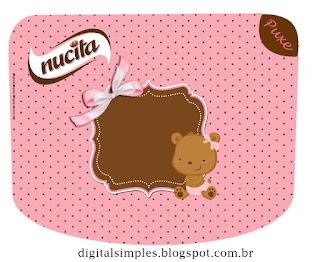 Etiqueta Nucita de Osita Bebé para imprimir gratis.
