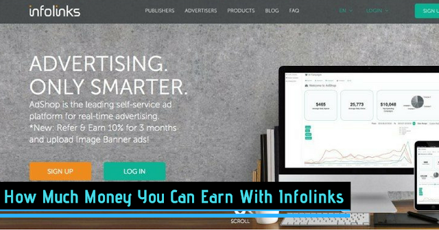 How Much Money You Can Earn With Infolinks :Infolink Review