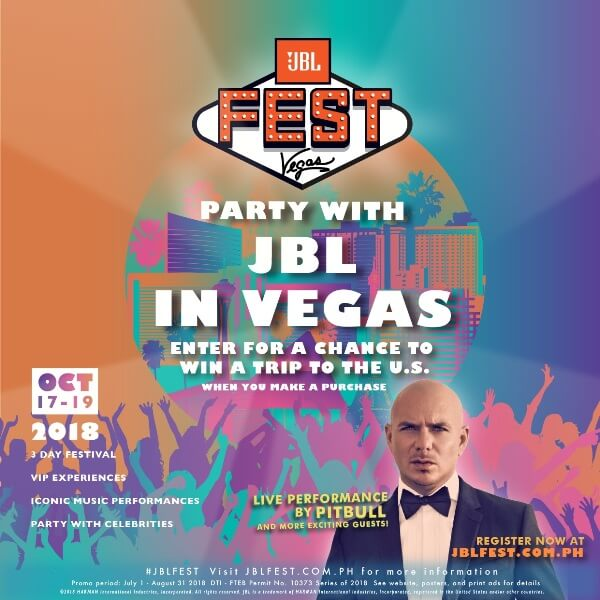 Buy Any JBL, Harman Kardon, or AKG Products for a Chance to Join the JBL Fest 2018 in Las Vegas!