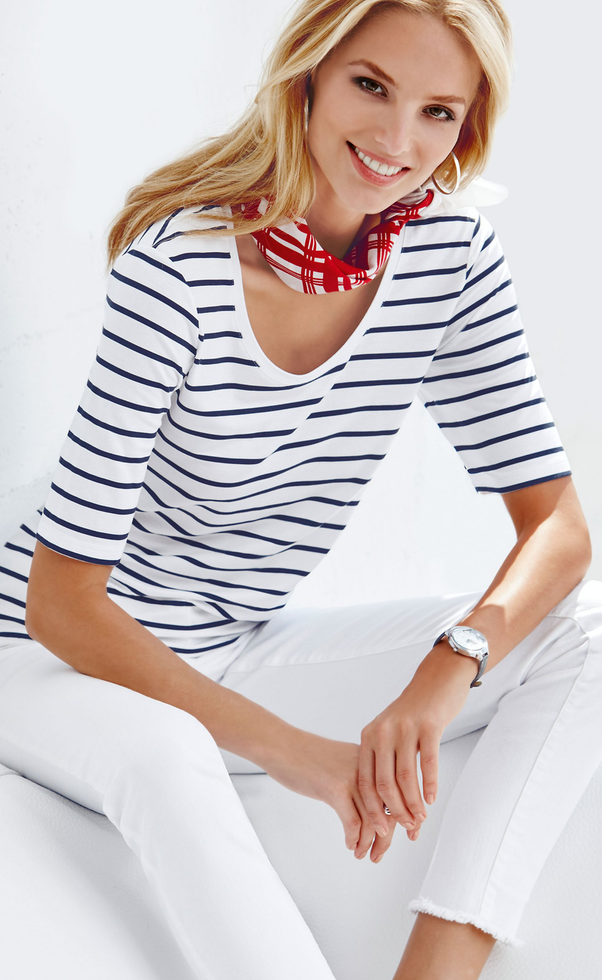 MADELEINE Striped Top