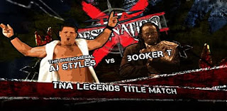 TNA Destination X 2009: AJ Styles faced Booker T for the Legends Title