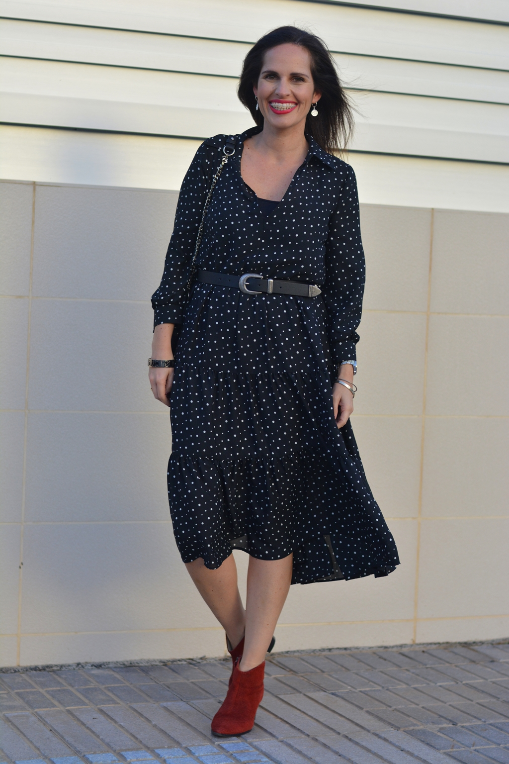 zara-belted-polka-dots-dress