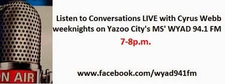 Conversations LIVE on WYAD 94.1 FM in Yazoo City, Mississippi!