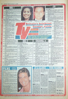 Old Sunday Sport newspaper back page from 16 October 1988
