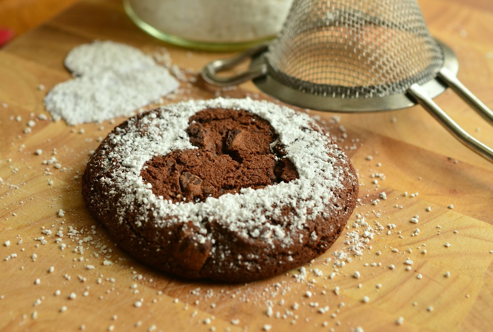 Egg-Free Brownies with Powdered Sugar
