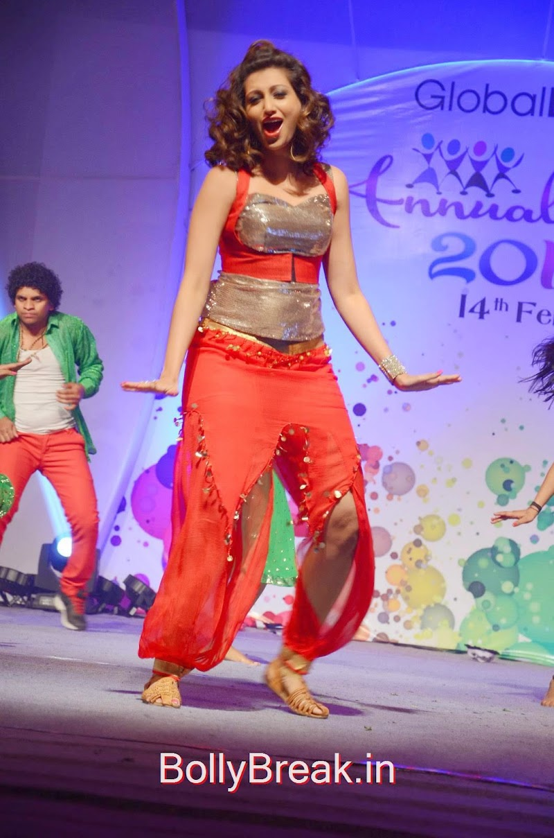 Hamsa Nandini Dancing Stills in Red and Silver Dress