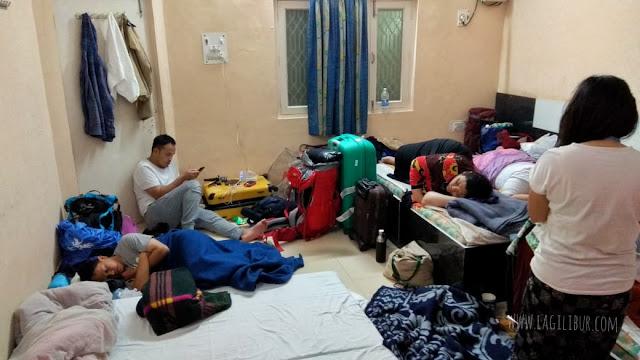 Kamar di penginapan Vrindavan