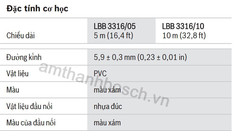 Cáp kéo dài Bosch LBB 3316/10