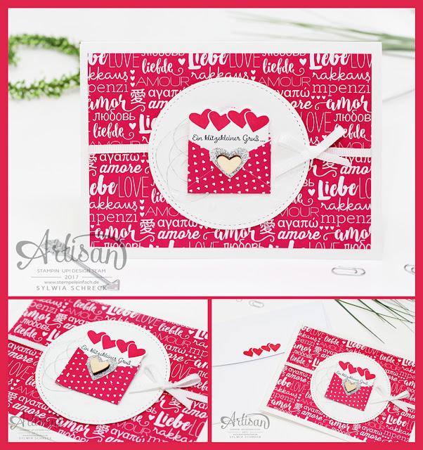 Herz Karte mit stampin up Set Liebe