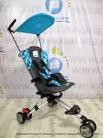 Kereta Bayi LightWeight CocoLatte CL08 iSport W4LK Polkadot Blue