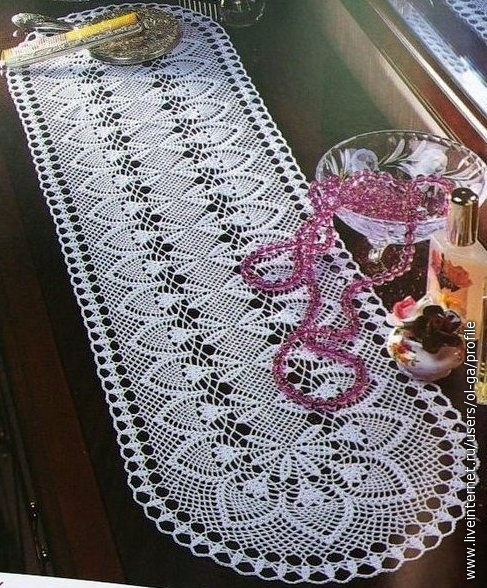 Crochet Pineapple Table Runner
