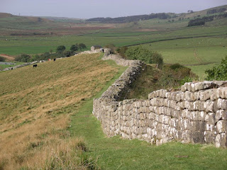 Although much of Hadrian's Wall has been dismantled over the years, some sections remain