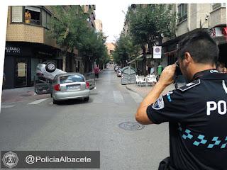 OTRO IMPRESIONANTE ACCIDENTE EN LAS CALLES DE ALBACETE