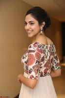 Ritu Varma smiling face Cream Anarkali dress at launch of OPPO New Selfie Camera F3 ~  Exclusive 071.JPG
