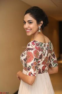 Ritu Varma smiling face Cream Anarkali dress at launch of OPPO New Selfie Camera F3 ~  Exclusive 071.JPG