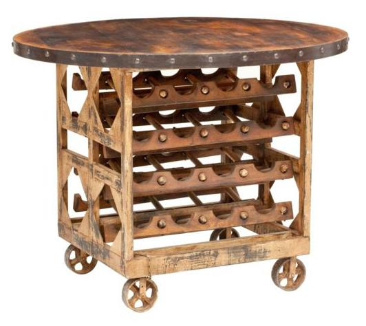 Copy Cat Chic Pottery Barn Trieste Wine Storage Table