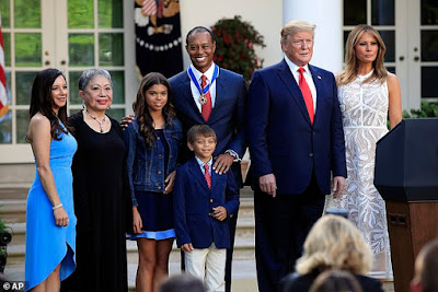 Tiger Woods in tears as Trump gives him the Medal of Freedom and calls him a 'great person'