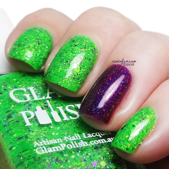 xoxoJen's swatch of Glam Polish Frankenslime