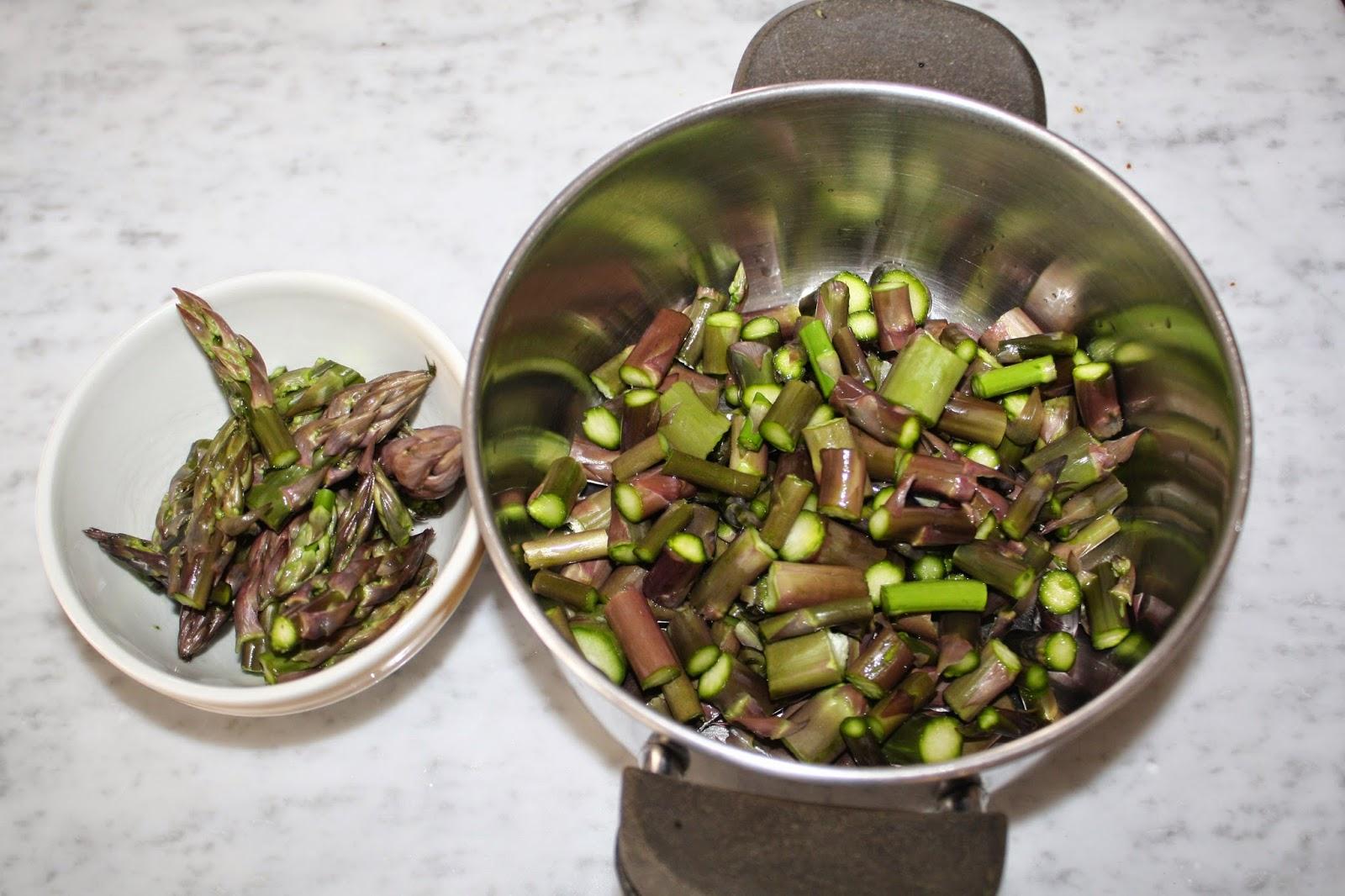 La cuciniera moderna risotto con asparagi ricetta senza for Cucinare asparagi