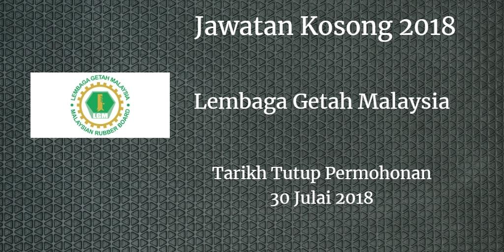 Jawatan Kosong LGM 30 Julai 2018