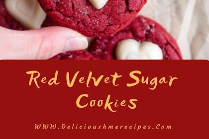 Red Velvet Sugar Cookies #valentine #cookies