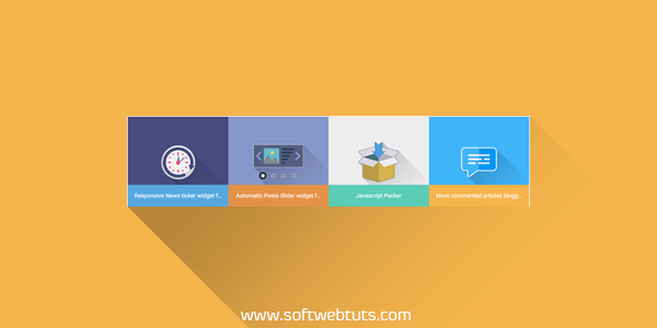 colorful and animated recent posts widget for blogger