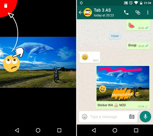 Menghapus sticker WhatsApp