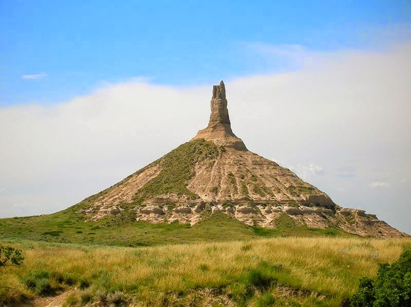 Landmark along the Oregon Trail in Nebraska.