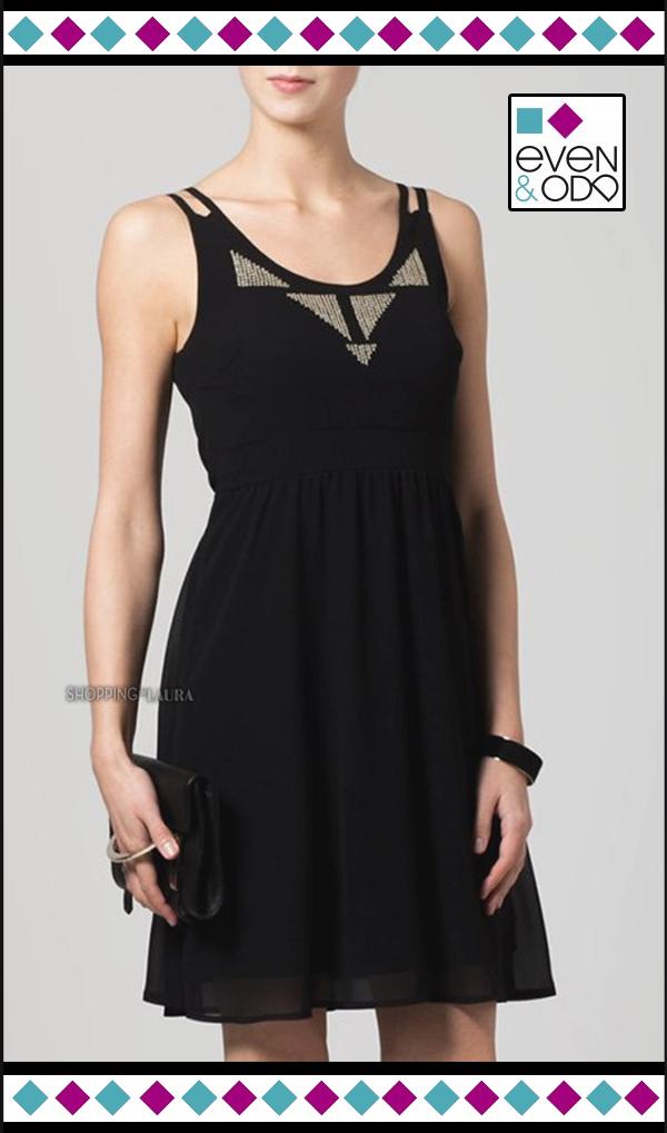 Robe courte noire EVEN & ODD habillée