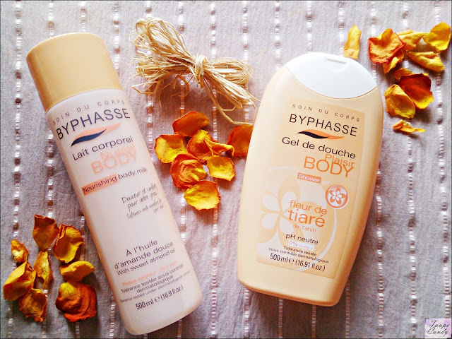 Byphasse body milk, byphasse shower gel tiara