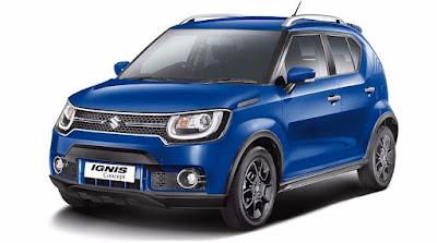 New 2016 Maruti Suzuki Ignis Blue