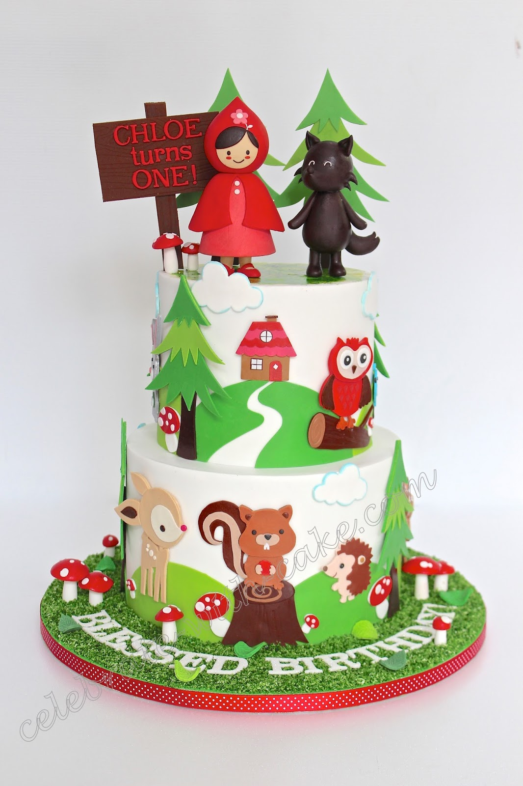 Celebrate With Cake Little Red Riding Hood 1st Birthday