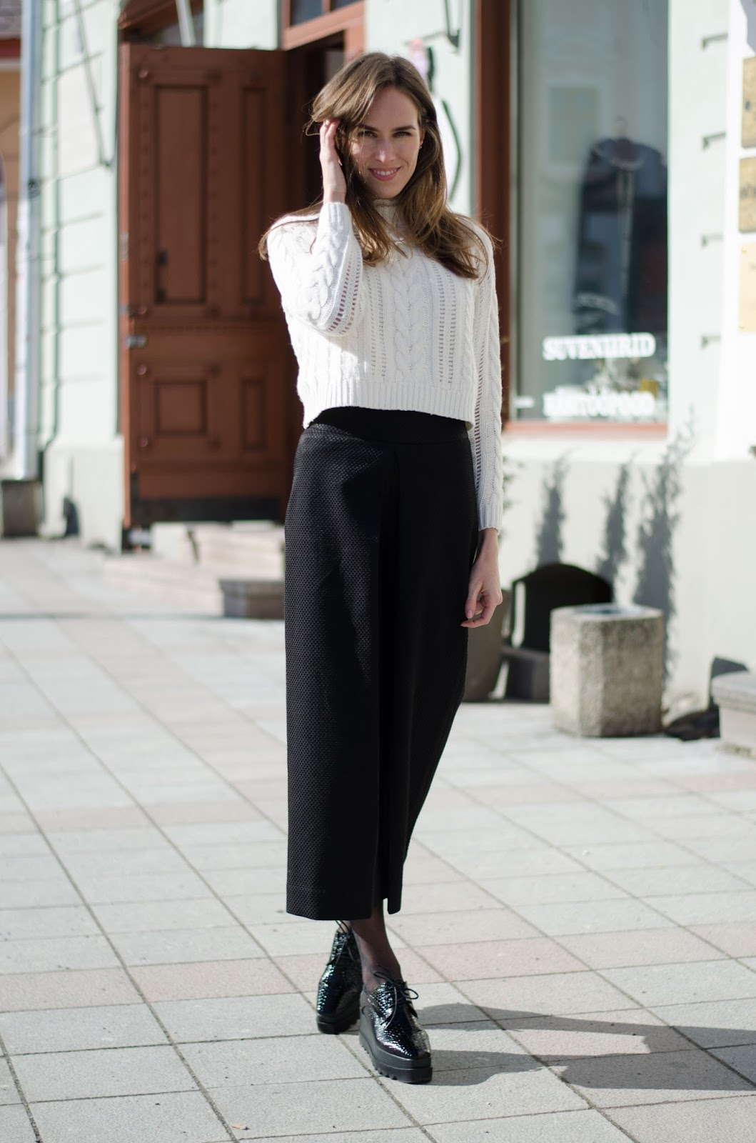 kristjaana mere cropped sweater culottes winter fashion