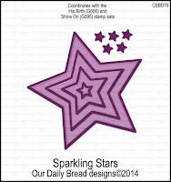 ODBD Custom Sparkling Stars Dies