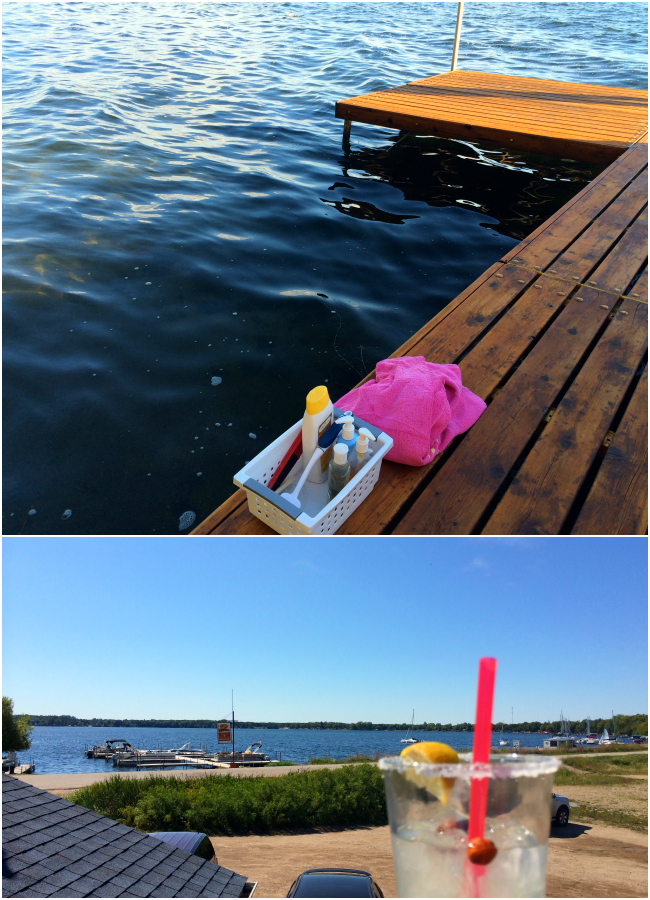 saying goodbye to summer, summer 2014, it's the end of the summer, taking the boats out, minnesota lakes, zorbaz patio, zorbaz margarita, jumping in the lake, showering in the lake, wine at lunch, granite city lunch