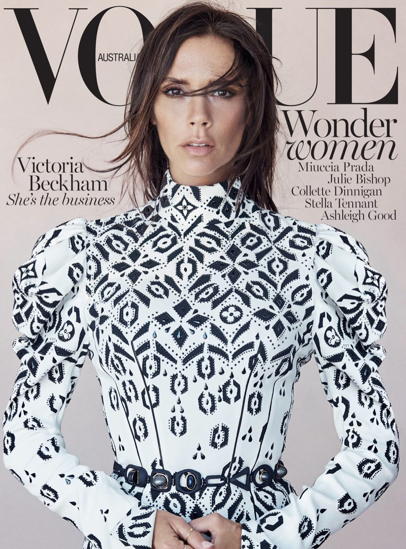 Victoria Beckham wears Louis Vuitton for the Vogue Australia August 2015 Cover