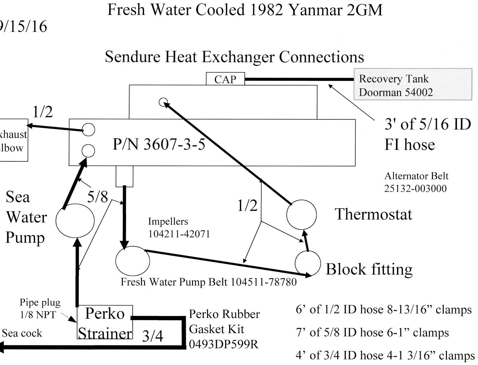 below is a hookup diagram parts list for the coolant hoses  [ 1600 x 1223 Pixel ]