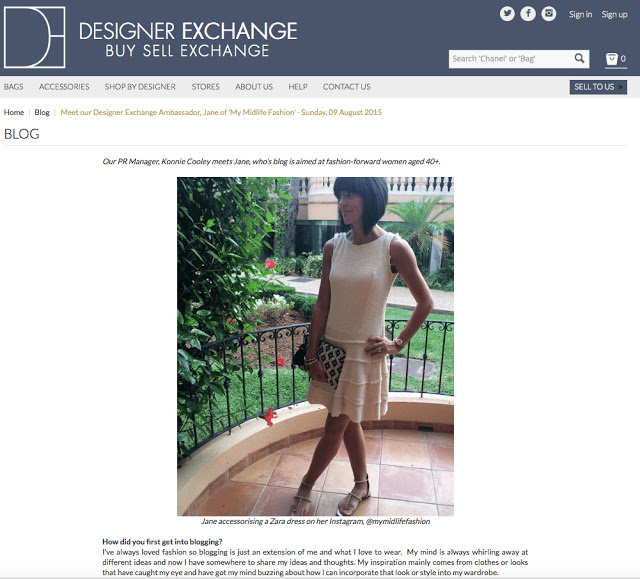 My Midlife Fashion Designer Exchange