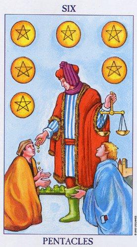 Tarotelic: Six Of Pentacles