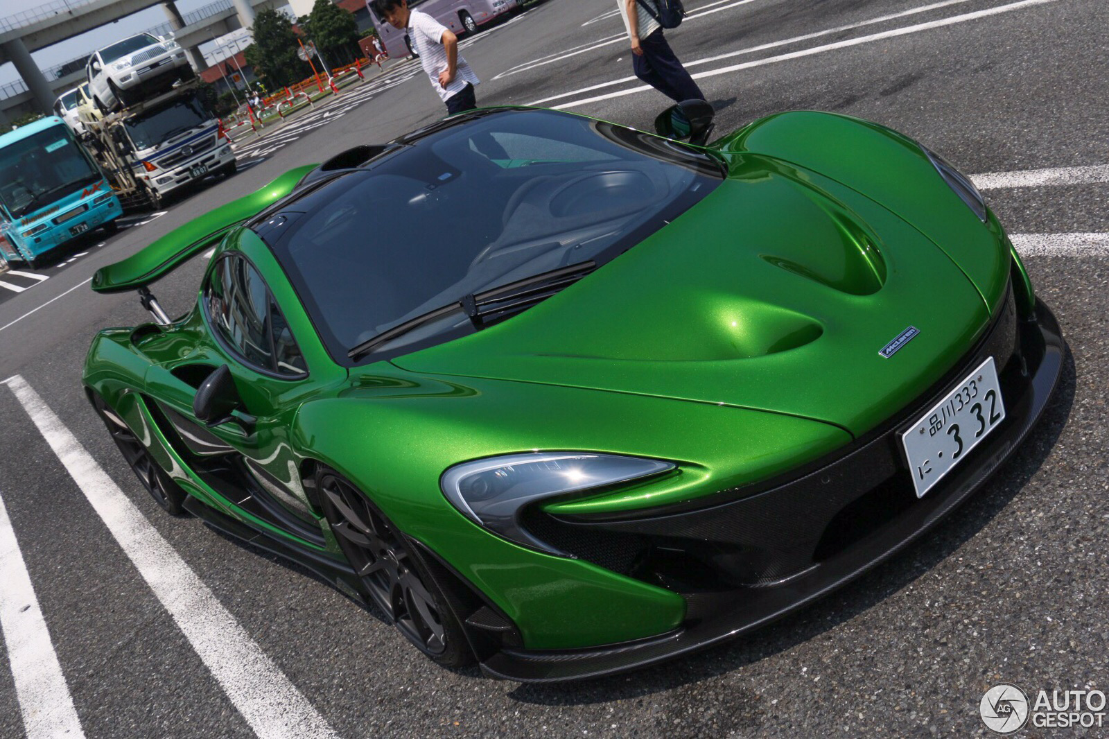another mclaren p1 gets striking green paint thanks to mso