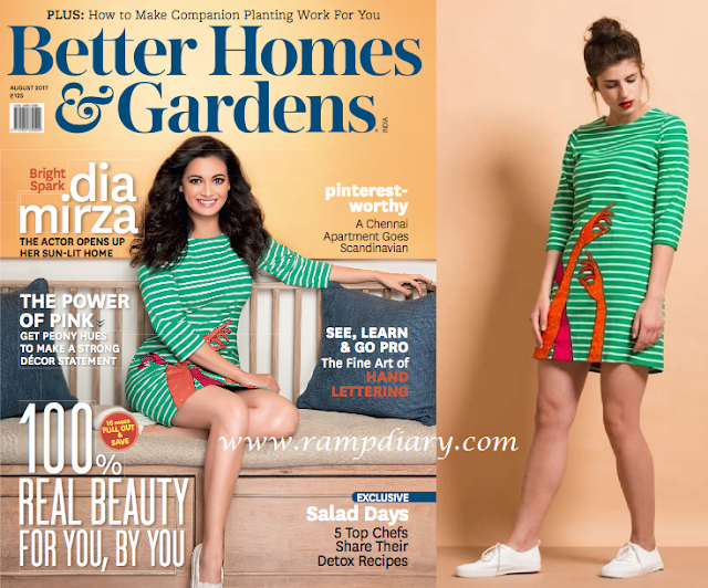 Dia Mirza In Shahin Mannan For Better Homes and Gardens Magazine