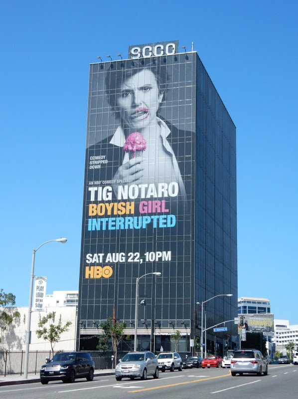 Tig Notaro Boyish Girl Interrupted billboard Sunset Strip