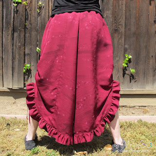 silk ruffle pants