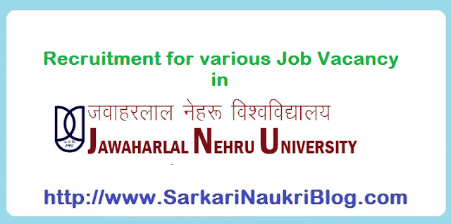 Naukri Vacancy Recruitment in JNU Delhi